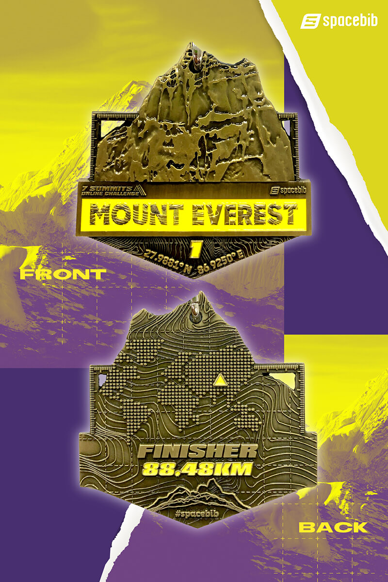 Finisher Medal - Mount Everest#vertical_image