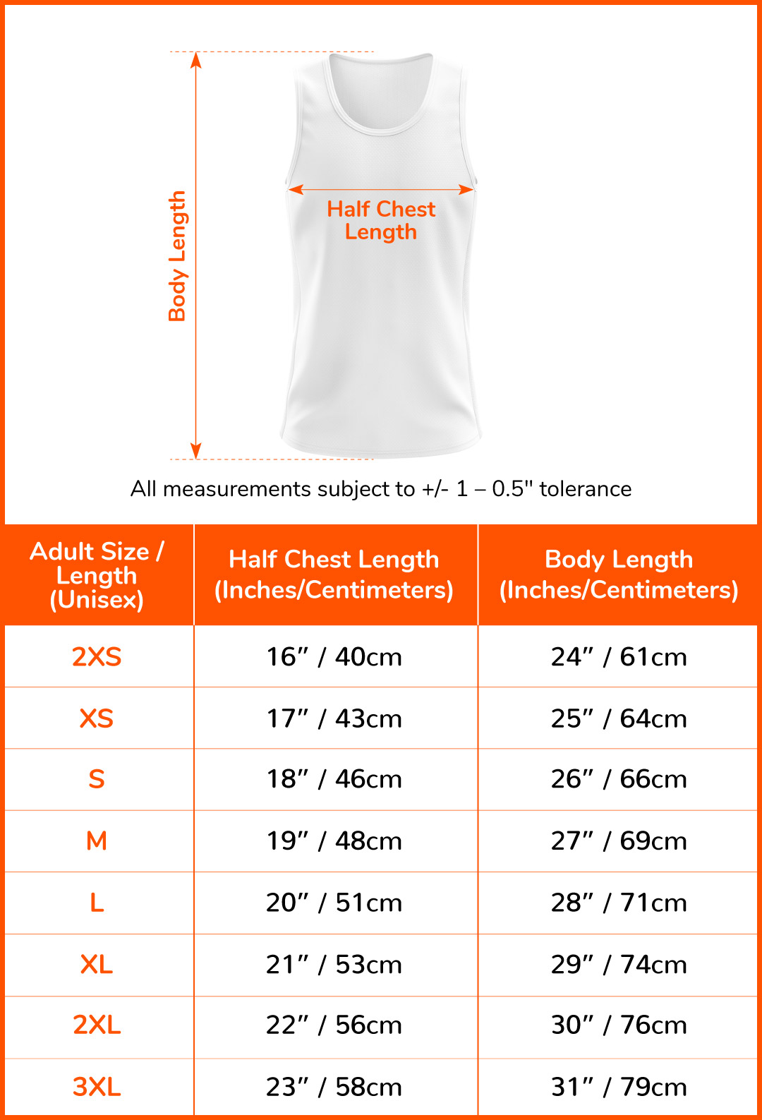 Running Singlet (Day)#size-chart