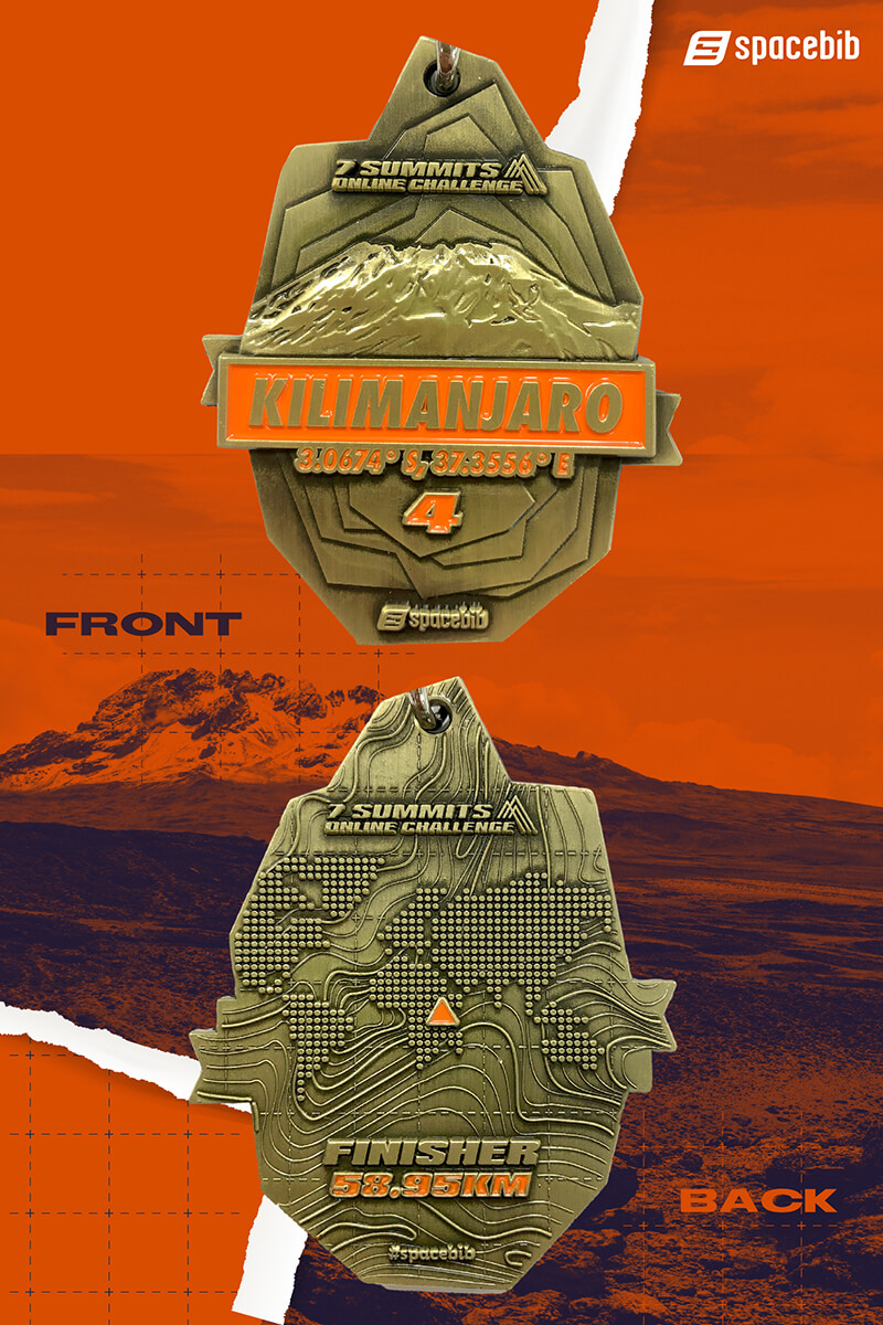 Finisher Medal - Mount Kilimanjaro#vertical_image