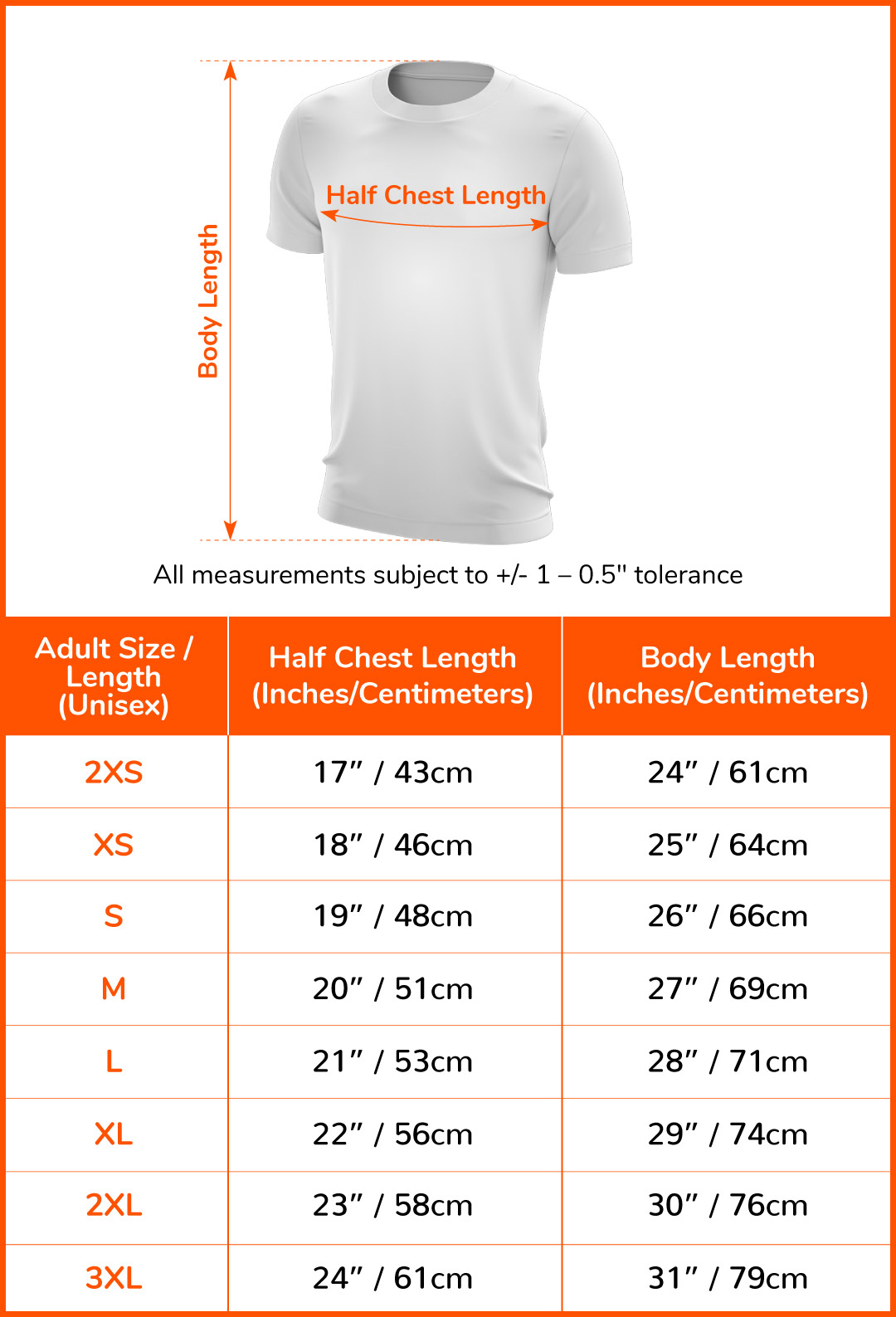 Finisher T-shirt (Night)#size-chart