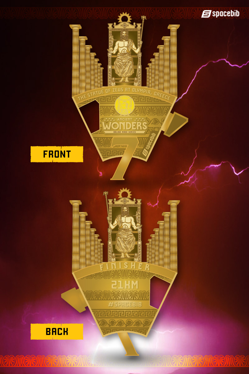 Finisher Medal - Statue of Zeus at Olympia#vertical_image