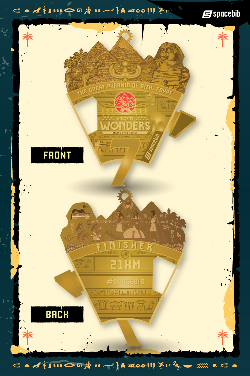 Finisher Medal - Great Pyramid of Giza#vertical_image