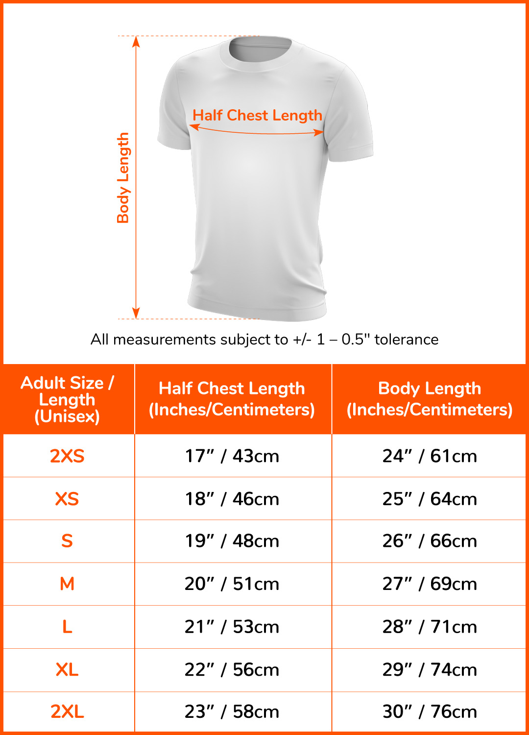 Finisher T-Shirt - 55km#size-chart